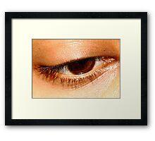 Beauty in her eyes. Framed Print