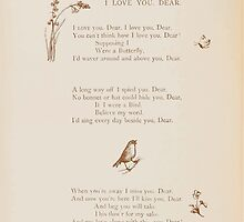 Rhymes for the Young Folk William and Hellen Allingham art Kate Greenaway 0032 I Love You Dear by wetdryvac