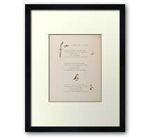 Rhymes for the Young Folk William and Hellen Allingham art Kate Greenaway 0032 I Love You Dear Framed Print