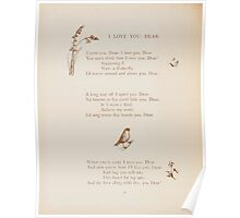 Rhymes for the Young Folk William and Hellen Allingham art Kate Greenaway 0032 I Love You Dear Poster