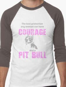 Courage and a Pit bull Men's Baseball ¾ T-Shirt