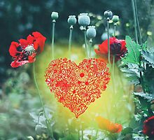 Floral Heart by Indea Vanmerllin