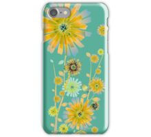 Orange sunflowers pattern iPhone Case/Skin