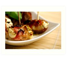 Bacon And Cheese 4 Fingerfood Art Print