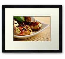 Bacon And Cheese 4 Fingerfood Framed Print