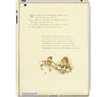 Old Proverbs with New Pictures Lizzie Laweson and Clara Mateaux 1881 0031 Lead Horse to Water Can't Make Him Drink iPad Case/Skin
