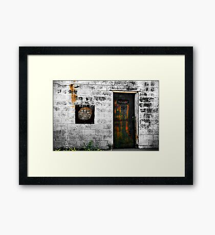 A Portal Into Fantasy or The Door To Reality Framed Print