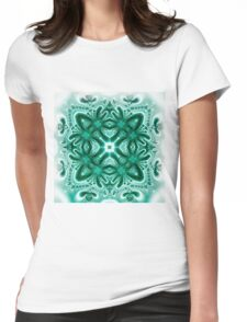 Turquoise etude Womens Fitted T-Shirt