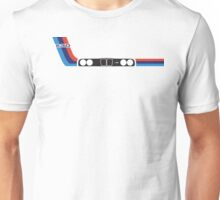 E30 kidney grill and headlights with racing stripes Unisex T-Shirt