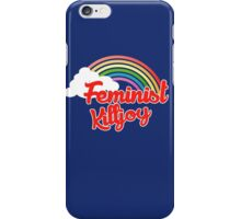 Feminist killjoy retro rainbow iPhone Case/Skin