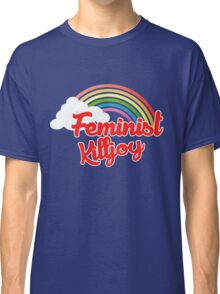 Feminist killjoy retro rainbow Classic T-Shirt