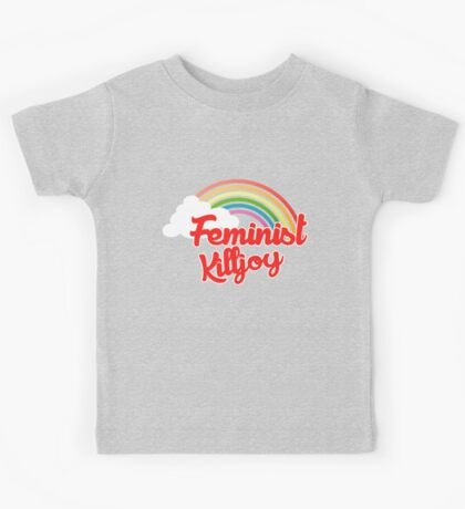 Feminist killjoy retro rainbow Kids Tee