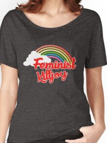 Feminist killjoy retro rainbow Women's Relaxed Fit T-Shirt