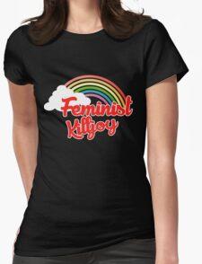 Feminist killjoy retro rainbow Womens Fitted T-Shirt