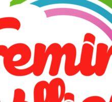Feminist killjoy retro rainbow Sticker