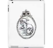 capricorn vintage black white starsign iPad Case/Skin