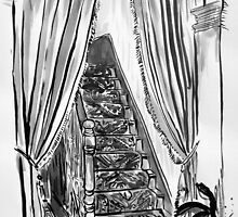 to up stairs by Loui  Jover