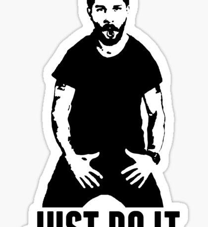 JUST DO IT - Shia LaBeouf Transparent Sticker
