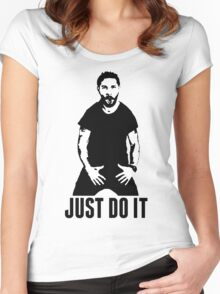 JUST DO IT - Shia LaBeouf Women's Fitted Scoop T-Shirt