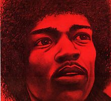 Jimi Hendrix celebrity portrait 147 views by Margaret Sanderson
