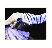Purple Rein - Vibrant Elephant Head Shot Art Art Print