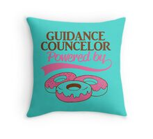 GUIDANCE COUNCELOR POWERED BY.. Throw Pillow