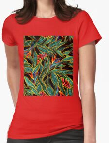 dark cactus party Womens Fitted T-Shirt