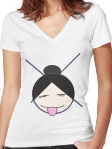 XO Girl (Plain) Women's Fitted V-Neck T-Shirt