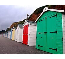 Beach Huts - Seaton Photographic Print