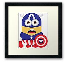 minion captain america Framed Print