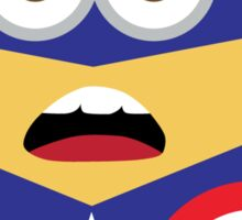 minion captain america Sticker