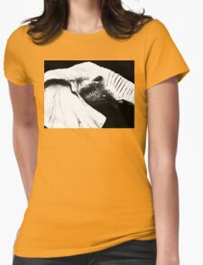 Black And White - Elephant Head Shot Art Womens Fitted T-Shirt
