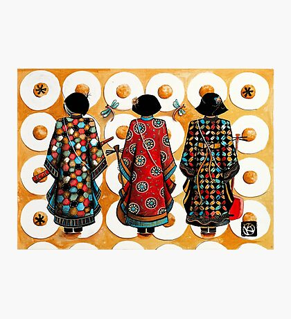Tang Court Trio Musicians Photographic Print