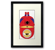 minion spiderman Framed Print