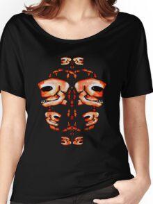 Skull Motif Ornament Women's Relaxed Fit T-Shirt