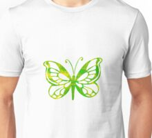 Green & Yellow Butterfly Unisex T-Shirt
