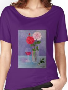 Study of a still life with roses Women's Relaxed Fit T-Shirt