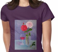 Study of a still life with roses Womens Fitted T-Shirt