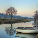 Calm Waters at St Catherine&#x27;s Shalford by Martin Finlayson