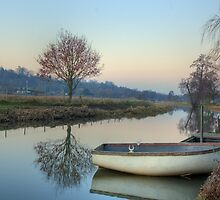 Calm Waters at St Catherine's Shalford by Martin Finlayson