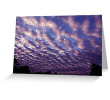 Morning sky over Madera 4/30/10 Greeting Card