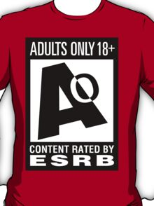 ESRB Adults Only 18+ T-Shirt