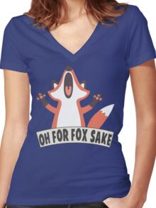 Oh For Fox Sake T Shirt Women's Fitted V-Neck T-Shirt