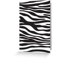 Animal Print, Zebra Stripes - Black White Greeting Card
