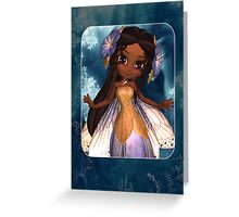 Any Ocassion Cute Fairy Card - African American Greeting Card