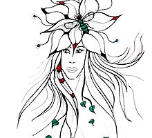 Earth Woman 5 - drawing by Valentina Miletic by Valentina Miletic