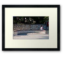 Community Bench Framed Print