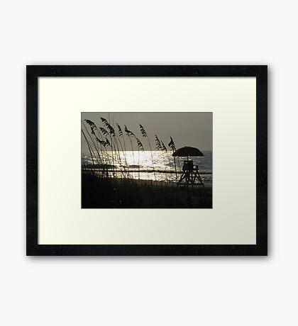 Oceanview at Myrtle Beach, SC Framed Print