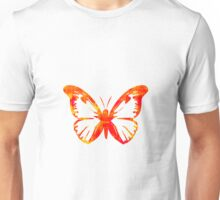 Red & Gold Butterfly Unisex T-Shirt