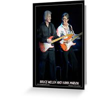 Cliff Richard and Hank Marvin Greeting Card